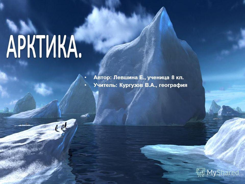 Автор: Левшина Е., ученица 8 кл. Учитель: Кургузов В.А., география