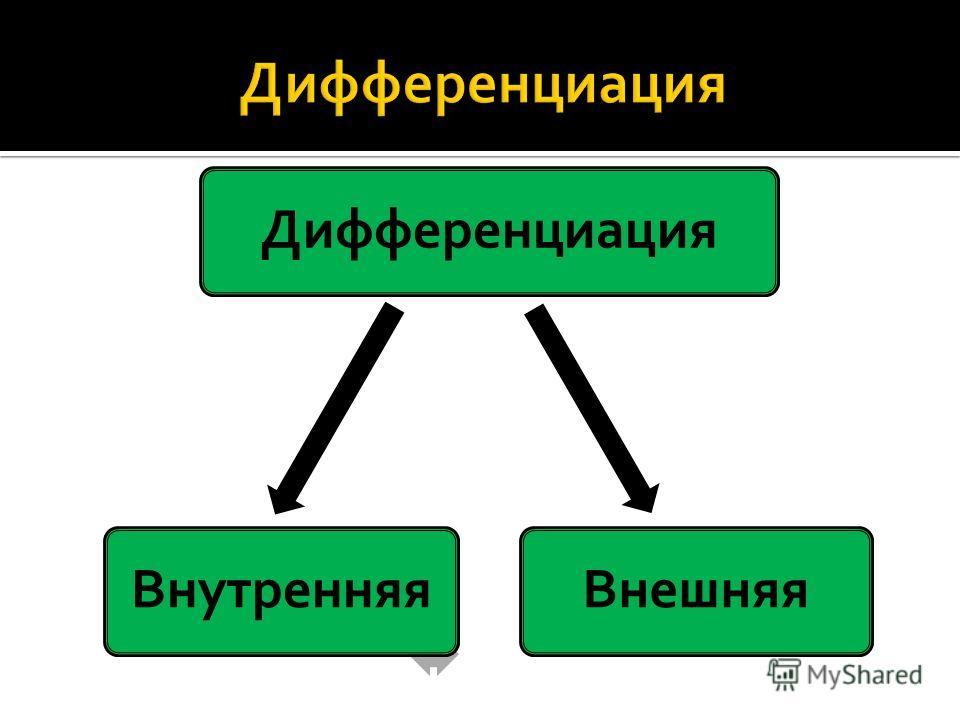 ДифференциацияВнешняяВнутренняя