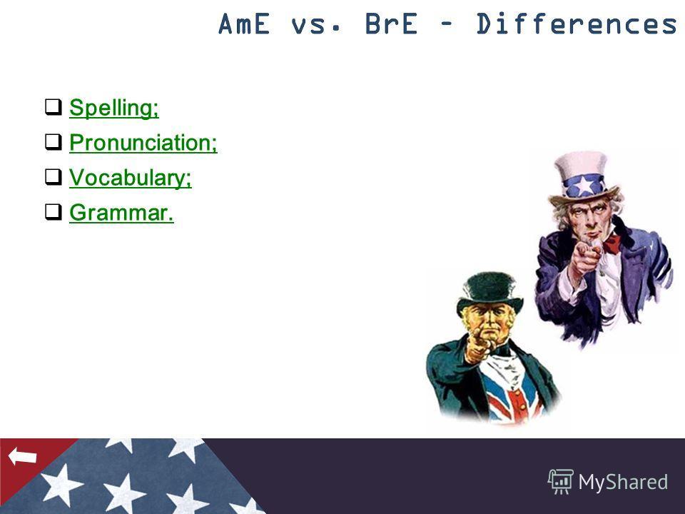 Spelling; Pronunciation; Vocabulary; Grammar.