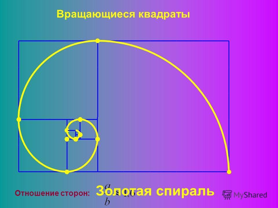 Вращающиеся квадраты Отношение сторон: Золотая спираль