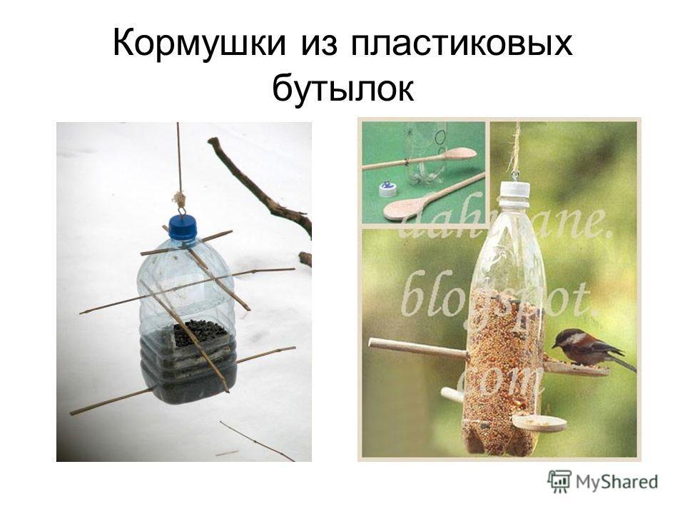 Кормушки из пластиковых бутылок