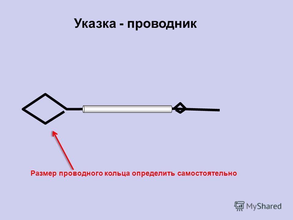 Указка - проводник Размер проводного кольца определить самостоятельно
