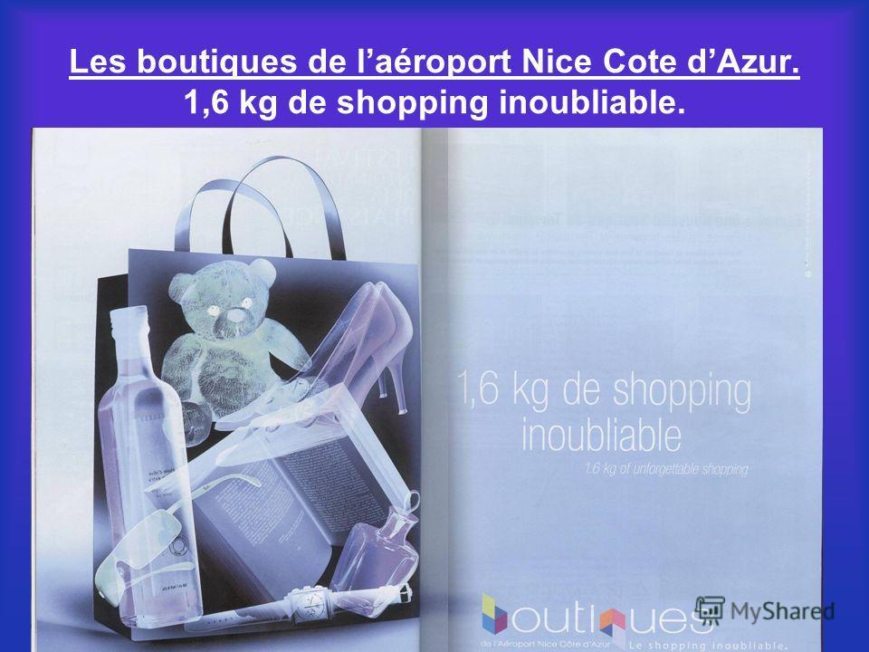 Les boutiques de laéroport Nice Cote dAzur. 1,6 kg de shopping inoubliable.