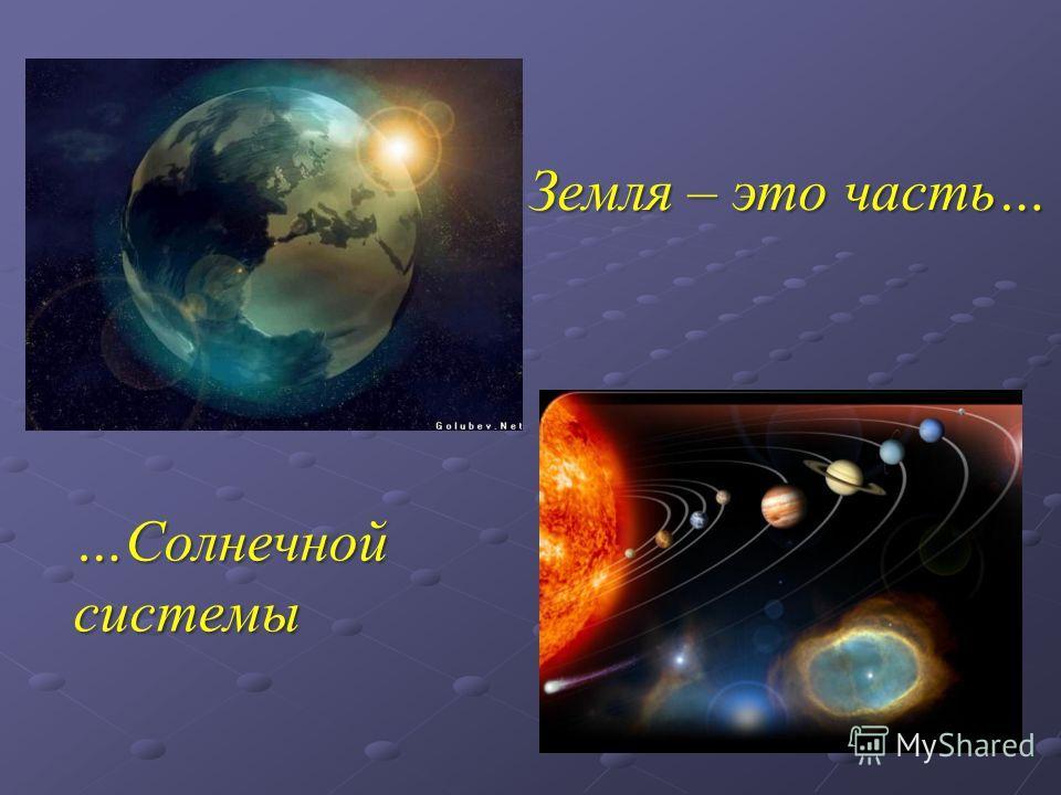 Земля – это часть… …Солнечной системы