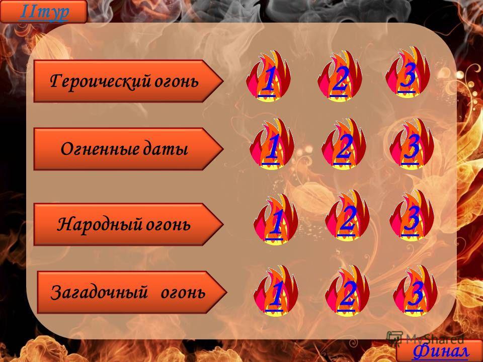 333312122211 Героический огонь Огненные даты Народный огонь Загадочный огонь IIтур Финал