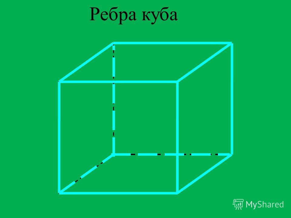 У куба 6 гранейУ куба 6 граней; У куба 8 вершин;
