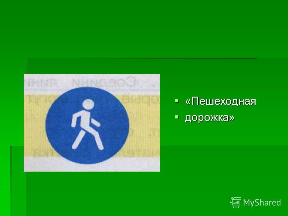 «Пешеходная «Пешеходная дорожка» дорожка»