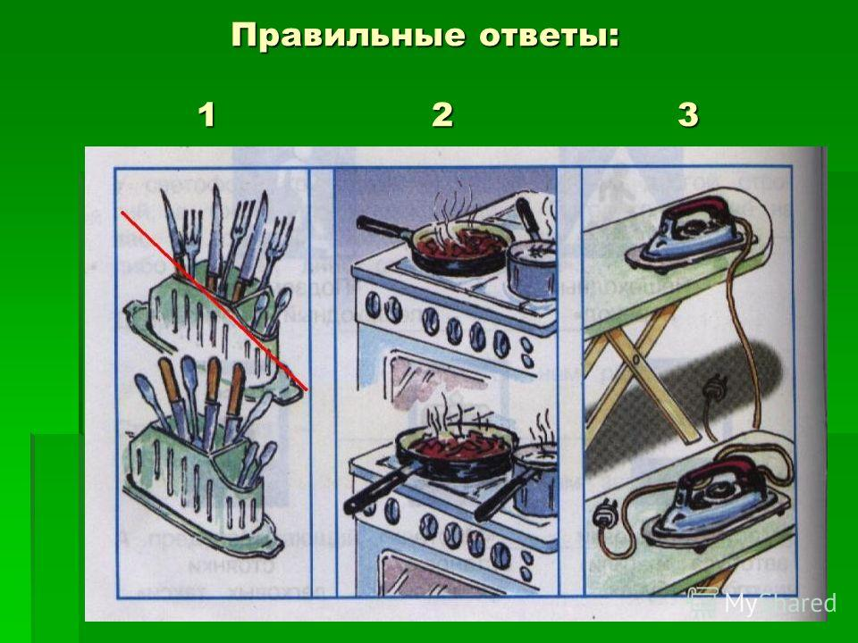 Правильные ответы: 1 2 3 Правильные ответы: 1 2 3