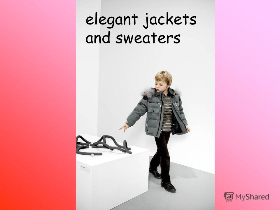 elegant jackets and sweaters