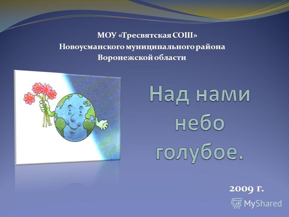 МОУ «Тресвятская СОШ» Новоусманского муниципального района Воронежской области 2009 г.