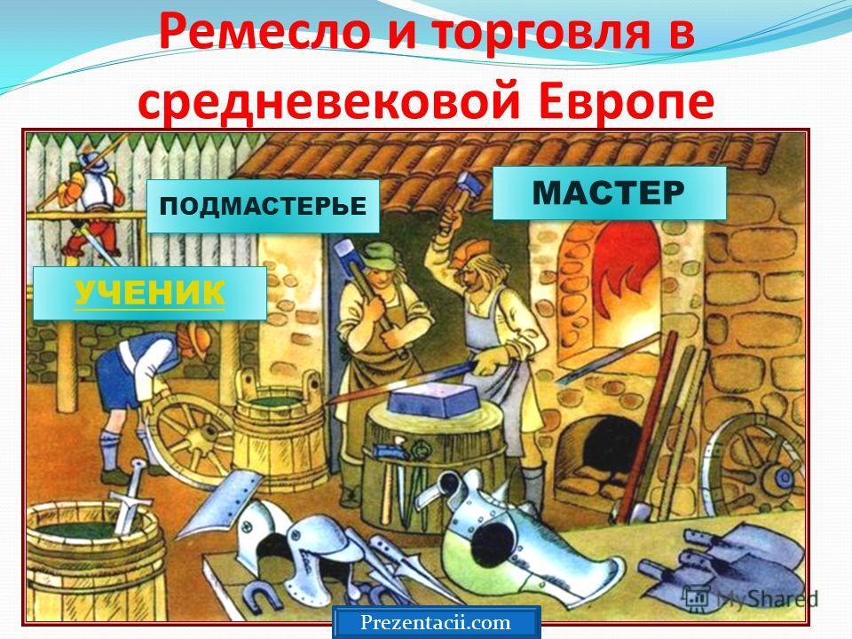 Ремесло и торговля в средневековой Европе МАСТЕР ПОДМАСТЕРЬЕ УЧЕНИК Prezentacii.com