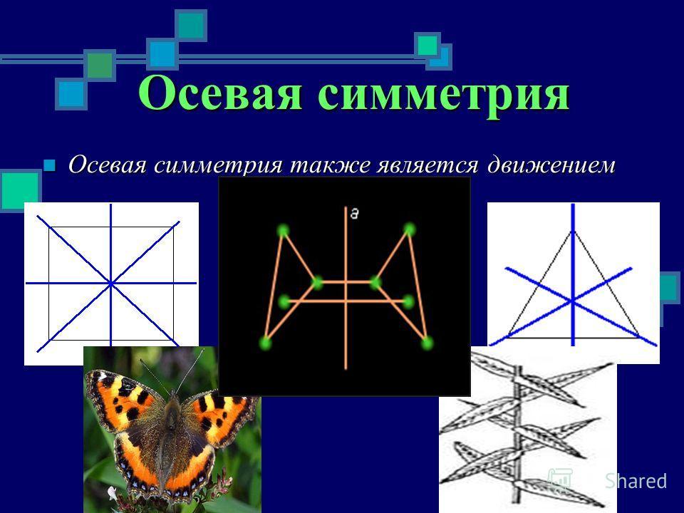 Осевая симметрия Осевая симметрия также является движением Осевая симметрия также является движением