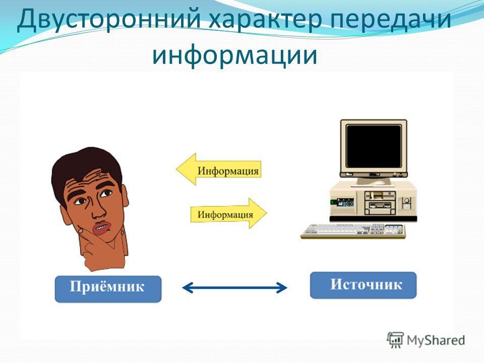 Двусторонний характер передачи информации