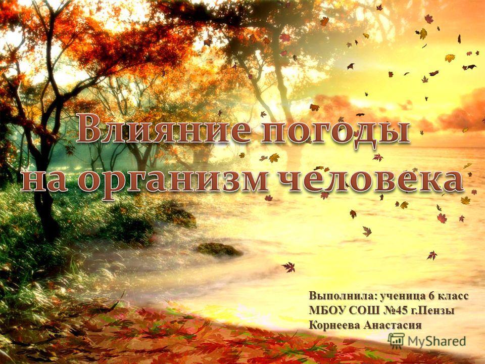 Выполнила: ученица 6 класс МБОУ СОШ 45 г.Пензы Корнеева Анастасия
