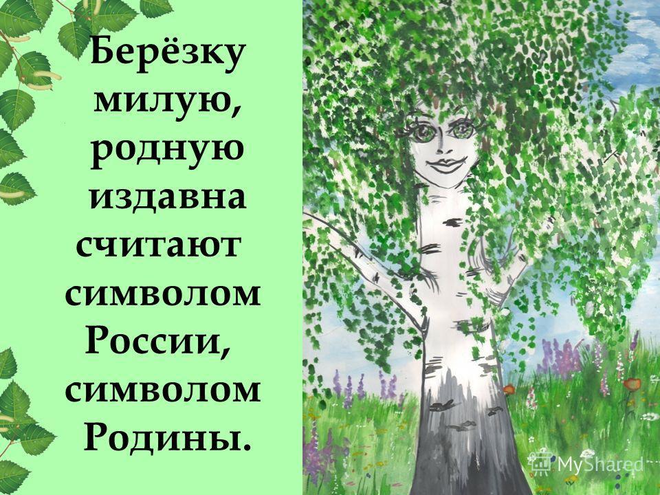 Берёзку милую, родную издавна считают символом России, символом Родины.