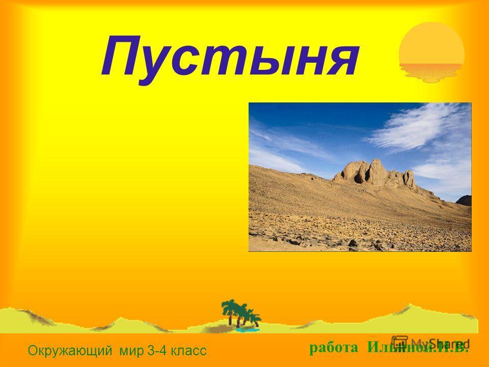 Пустыня окружающий мир 3 4 класс работа