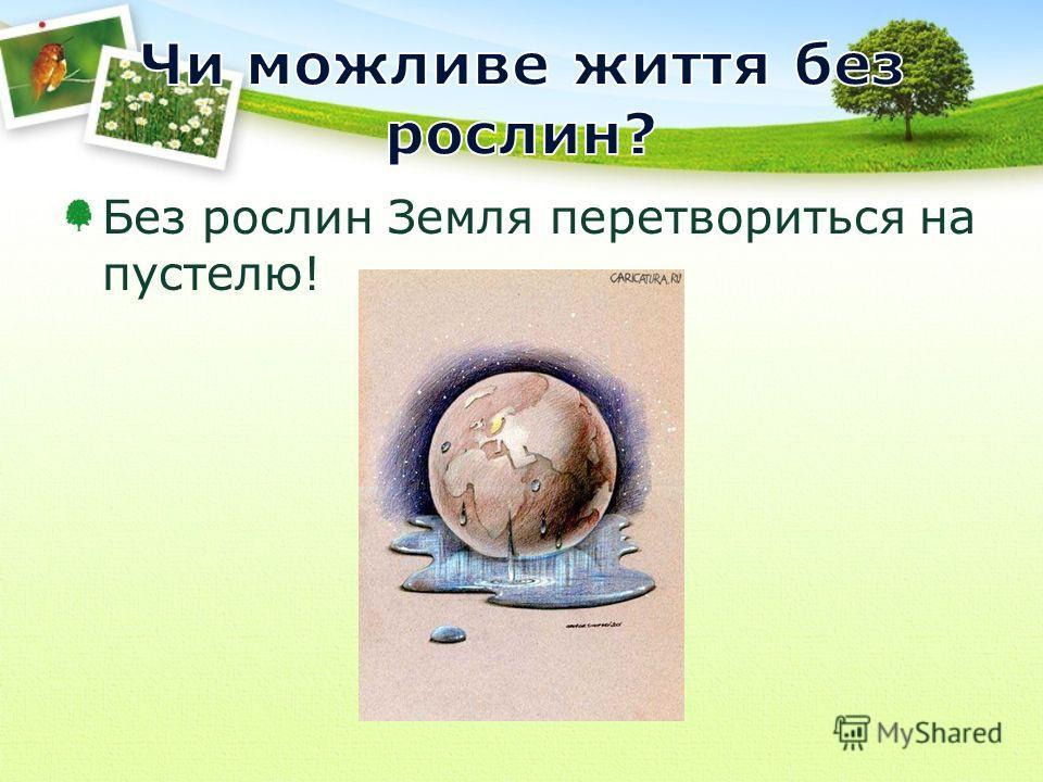 Без рослин Земля перетвориться на пустелю!
