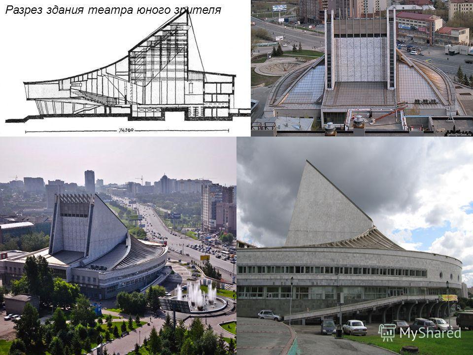 Новосибирский Академический молодёжный театр Глобус План здания театра юного зрителя (проектный)