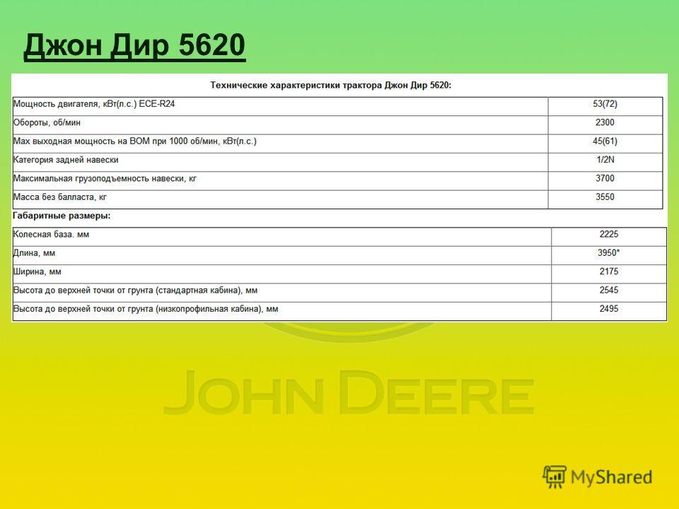 Джон Дир 5620