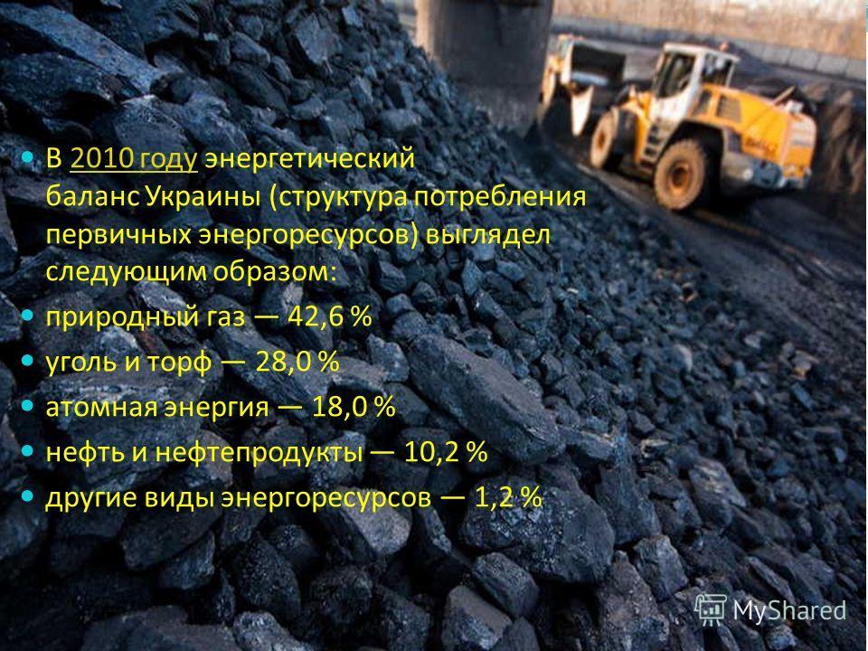 Энергетика Украины – важная отрасль промышленности Украины. Она базируется на использовании традиционных видов (тепловых и гидро-) электростанций с отклонением от среднемировой статистики в сторону большего использования АЭС. Большая часть существующ