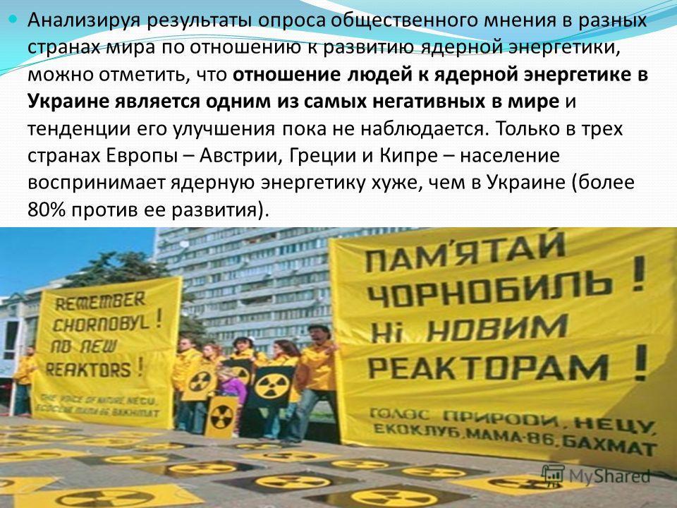 Причины сдерживающие развитие ядерной Причины сдерживающие развитие ядерной энергетики в Украине: энергетики в Украине: экономический кризис политические неурядицы общественная неготовность к восприятию ядерной энергетики