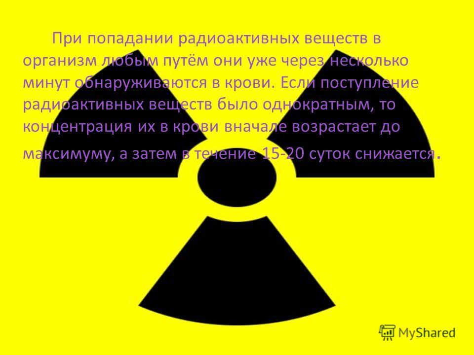 Пути поступления радиоактивных веществ в организм при вдыхании воздуха, загрязненного радиоактивными веществами через зараженную пищу или воду через кожу, а также при заражении открытых ран