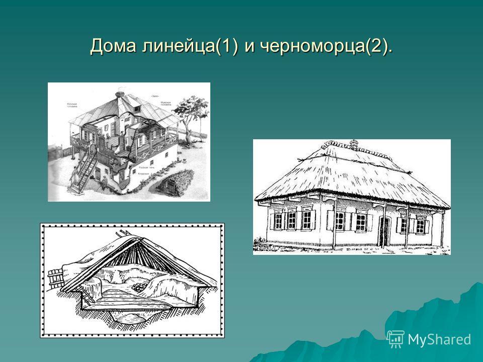 Дома линейца(1) и черноморца(2).