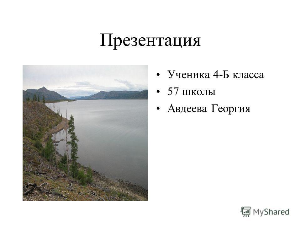 Презентация Ученика 4-Б класса 57 школы Авдеева Георгия