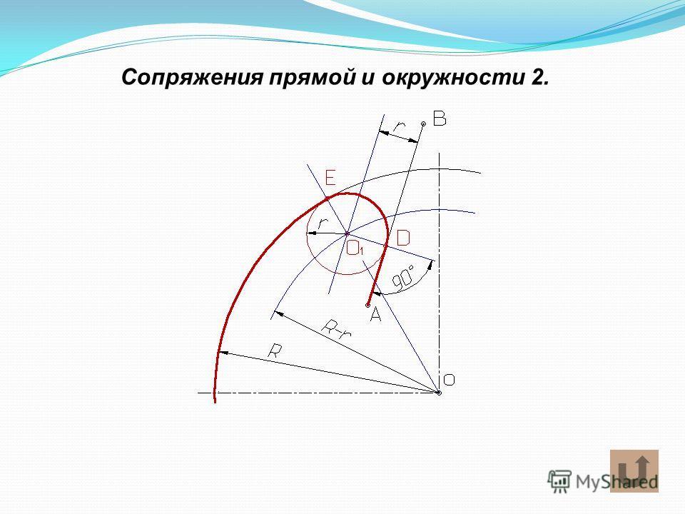 Сопряжения прямой и окружности 2.