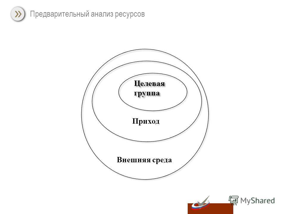Предварительный анализ ресурсов Внешняя среда Приход