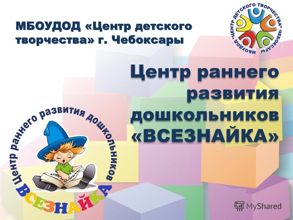 МБОУДОД «Центр детского творчества» г. Чебоксары МБОУДОД «Центр детского творчества» г. Чебоксары Центр раннего развития дошкольников «ВСЕЗНАЙКА» Центр раннего развития дошкольников «ВСЕЗНАЙКА»
