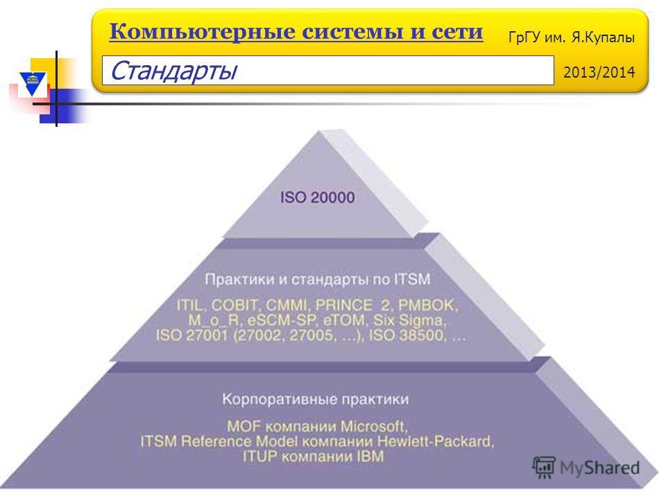 ГрГУ им. Я.Купалы 2013/2014 Компьютерные системы и сети Стандарты