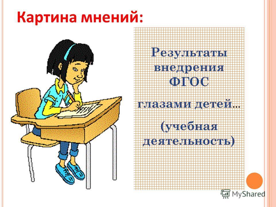 Картина мнений: Результаты внедрения ФГОС глазами детей … (учебная деятельность)