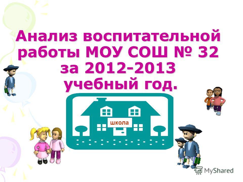 Анализ воспитательной работы МОУ СОШ 32 за 2012-2013 учебный год. школа