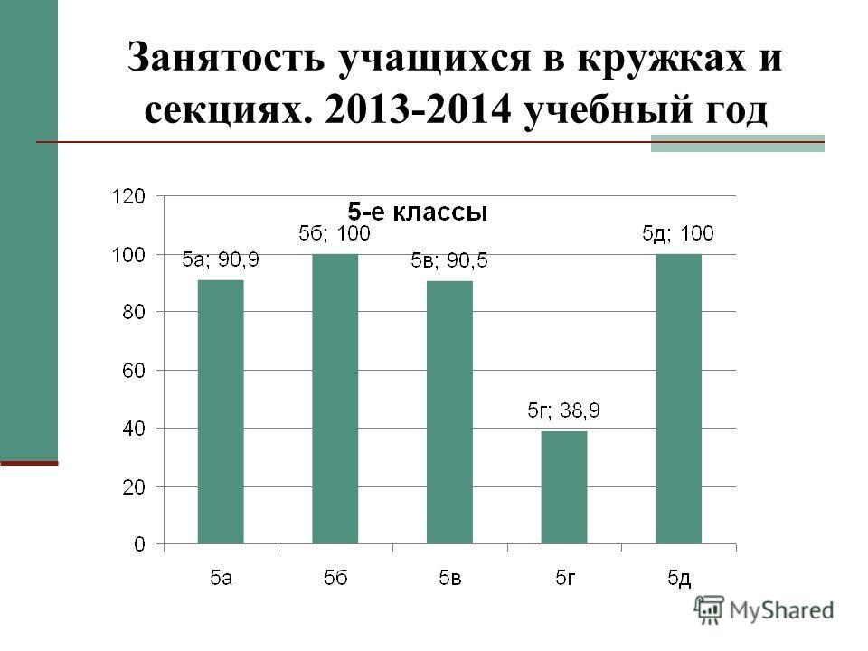 Занятость учащихся в кружках и секциях. 2013-2014 учебный год