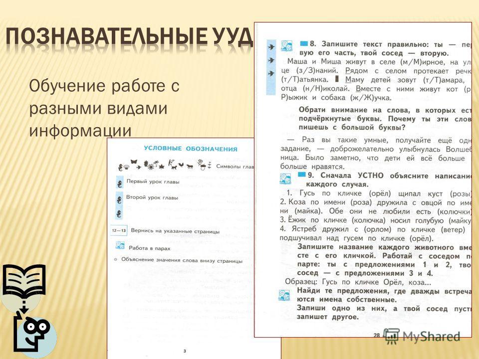 Обучение работе с разными видами информации