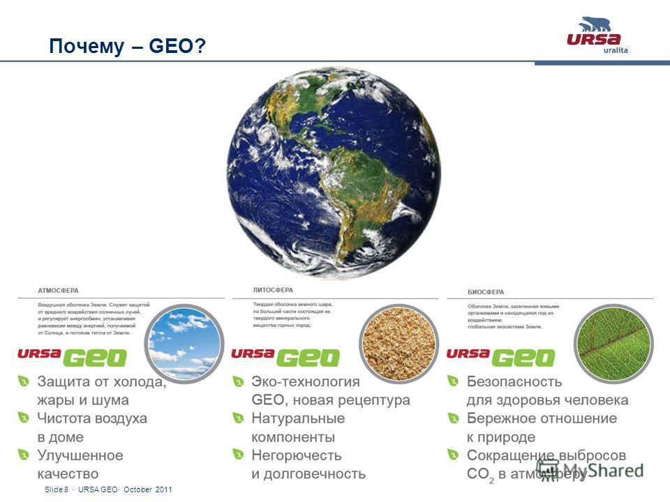 Slide 8 · URSA GEO· October 2011 Почему – GEO?