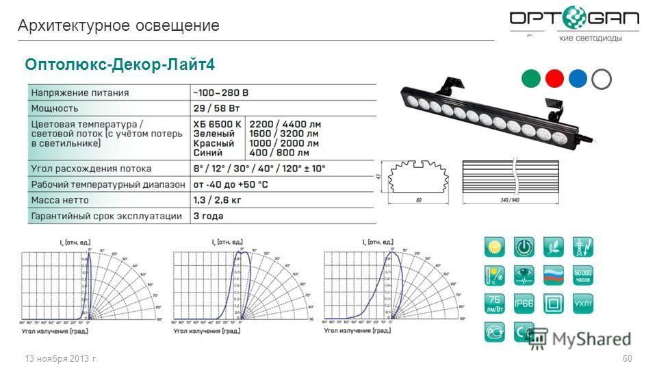 13 ноября 2013 г.60 Архитектурное освещение Оптолюкс-Декор-Лайт4