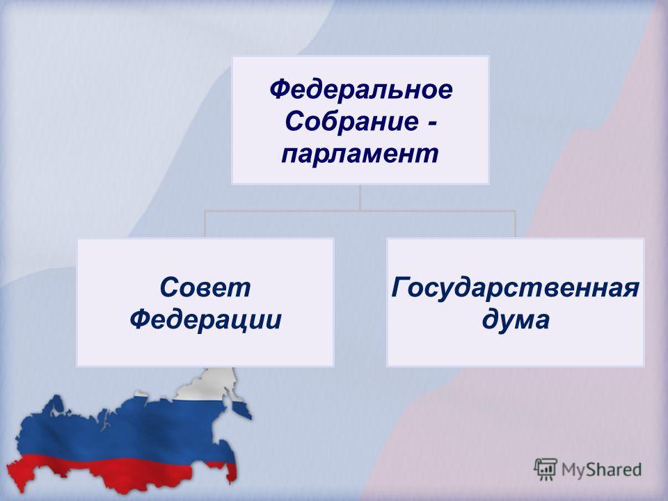 Федеральное Собрание - парламент Совет Федерации Государственная дума