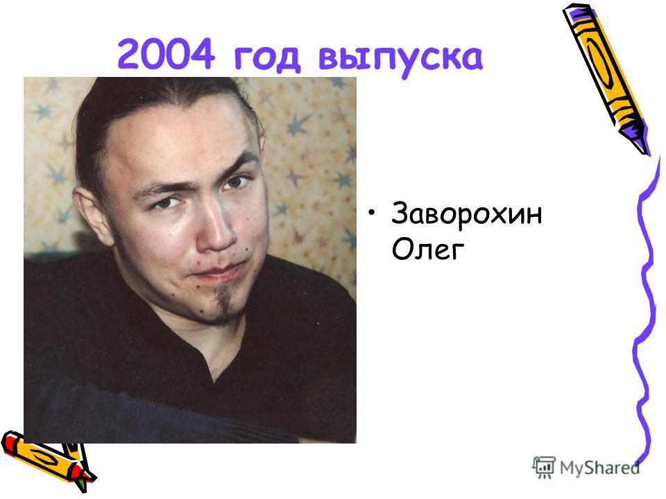 2004 год выпуска Заворохин Олег