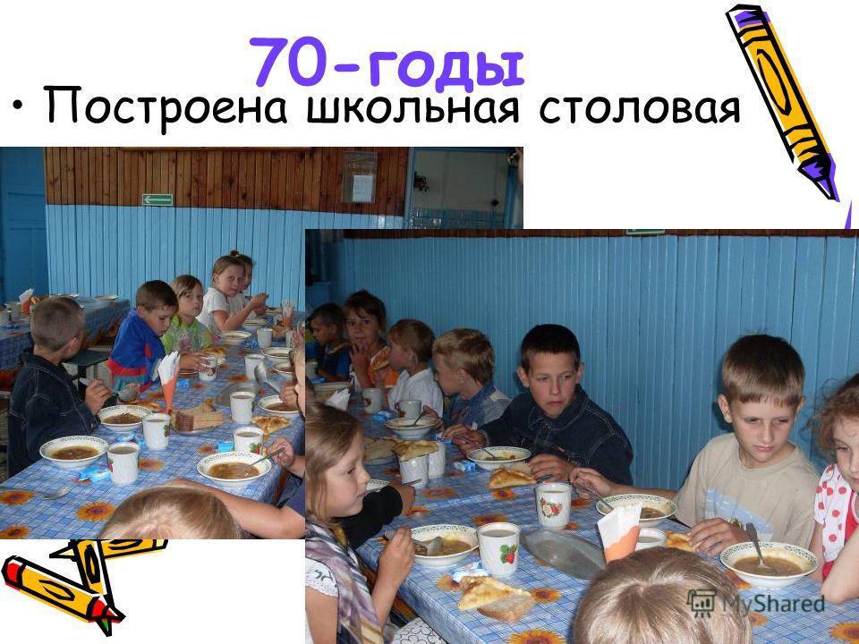 70-годы Построена школьная столовая