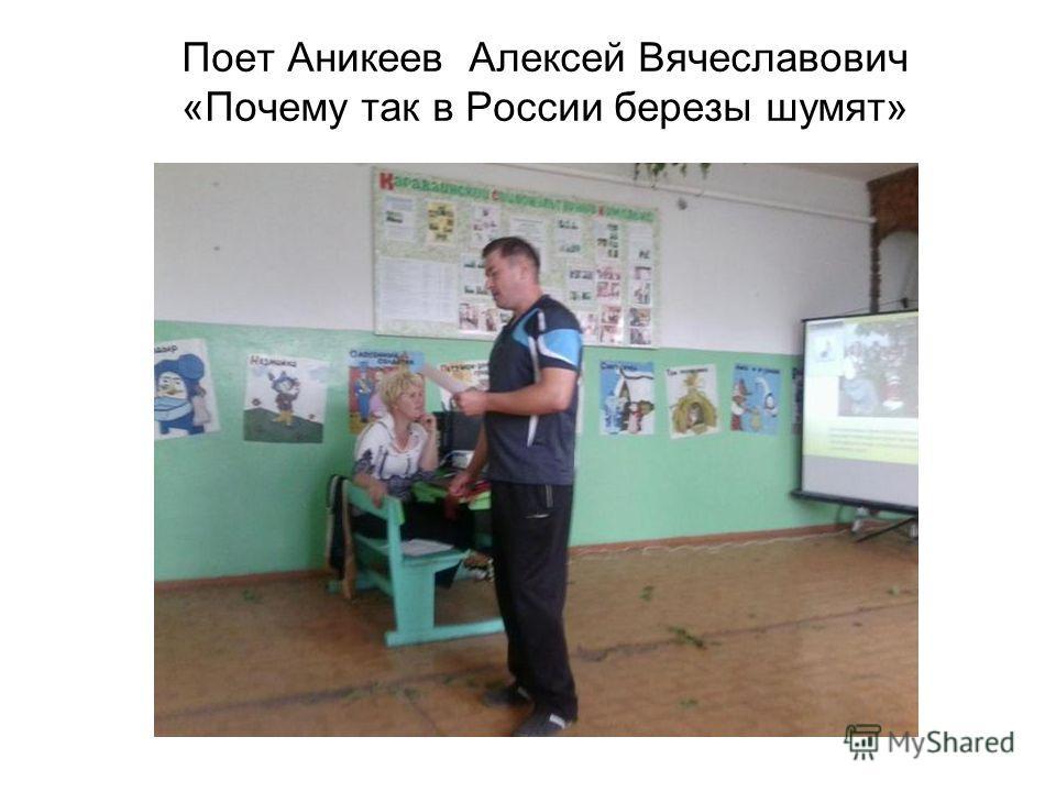 Поет Аникеев Алексей Вячеславович «Почему так в России березы шумят»