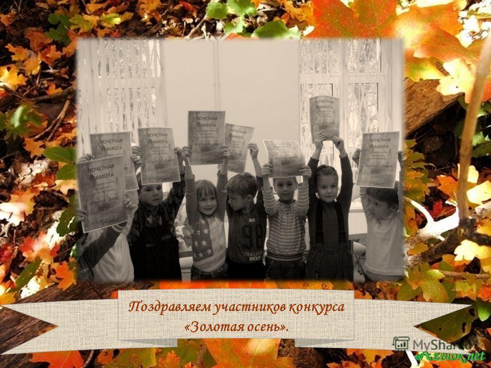 Поздравляем участников конкурса «Золотая осень».