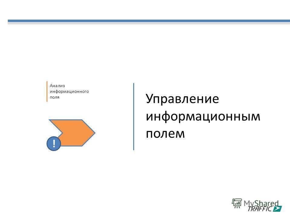 Управление информационным полем Анализ информационного поля !