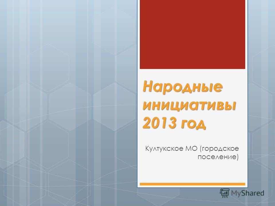 Народные инициативы 2013 год Култукское МО (городское поселение)