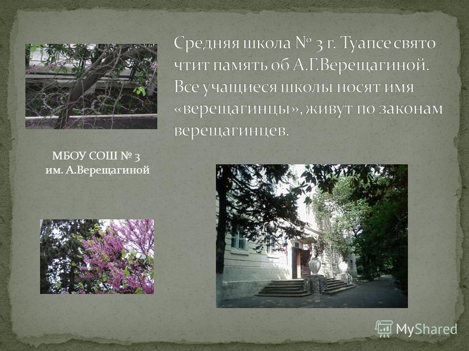 МБОУ СОШ 3 им. А.Верещагиной