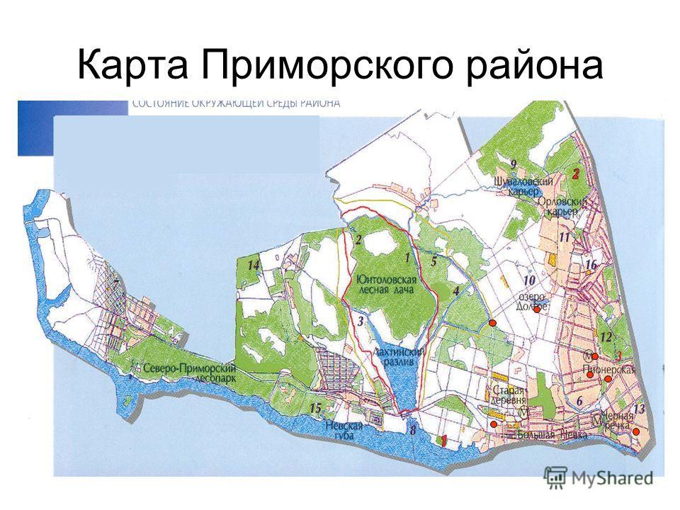 Карта Приморского района