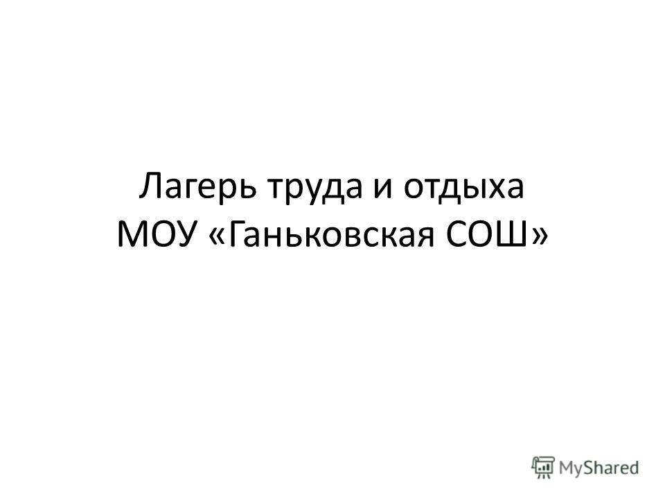 Лагерь труда и отдыха МОУ «Ганьковская СОШ»