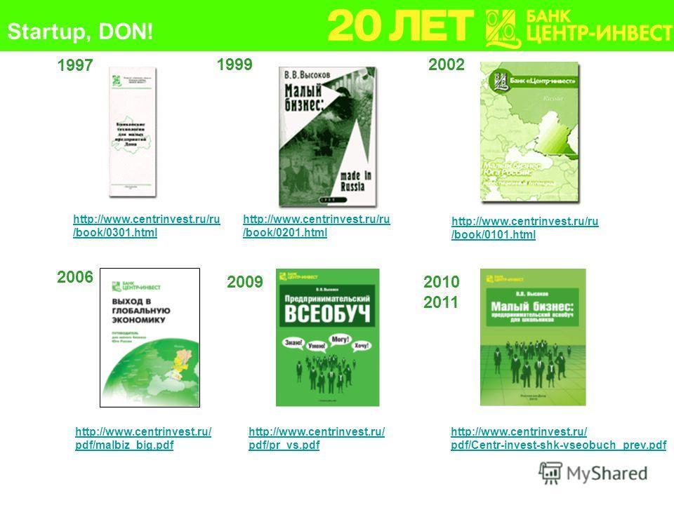 1997 19992002 2006 20092010 2011 http://www.centrinvest.ru/ru /book/0201.html http://www.centrinvest.ru/ru /book/0301.html http://www.centrinvest.ru/ru /book/0101.html http://www.centrinvest.ru/ pdf/malbiz_big.pdf http://www.centrinvest.ru/ pdf/pr_vs