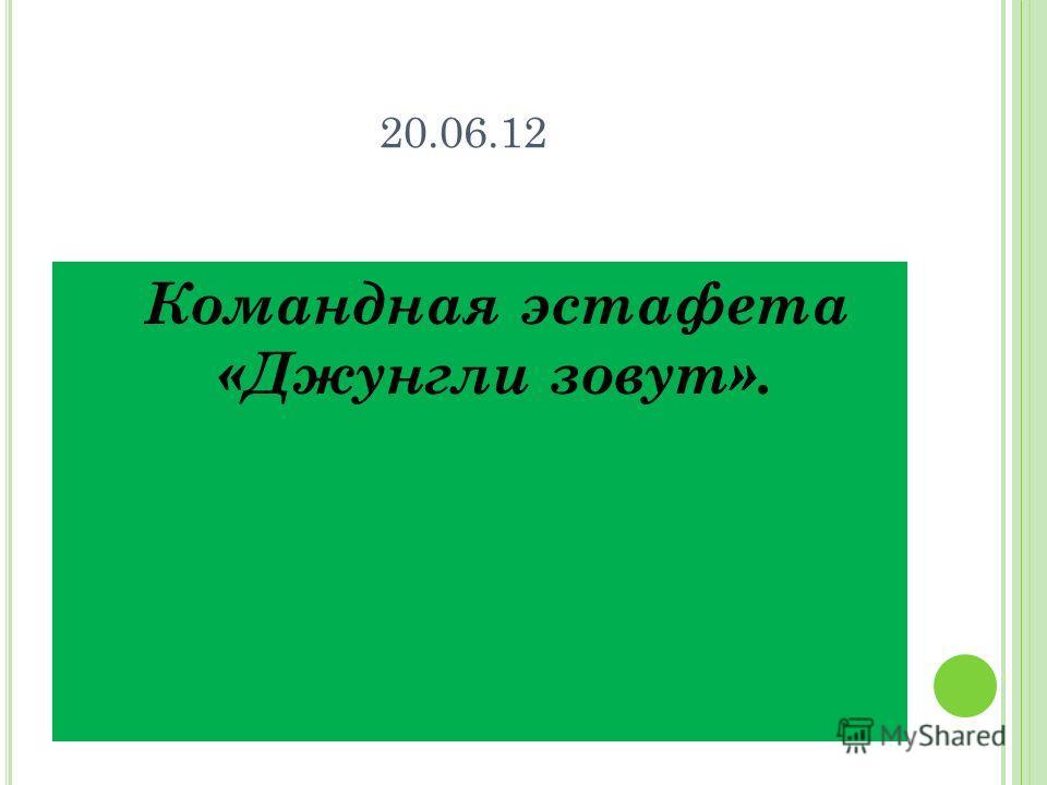 20.06.12 Командная эстафета «Джунгли зовут».